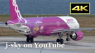 [4K] Normal and Special Livery Peach Aviation Airbus A320 at Kansai Airport / 関西国際空港 ピーチ