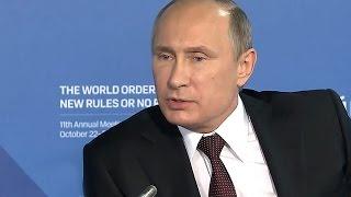 Путин В. В. отвечает на вопросы дискуссионного клуба «Валдай»