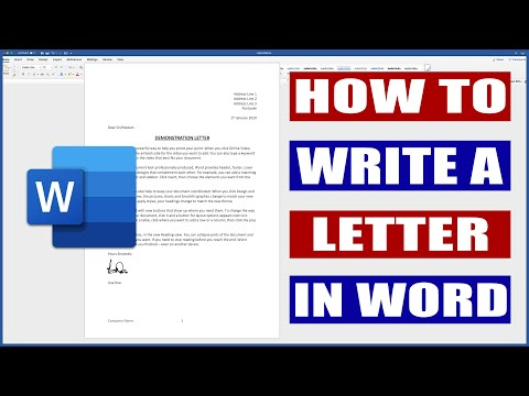 How To Write A Letter In Word | Microsoft Word Tutorial
