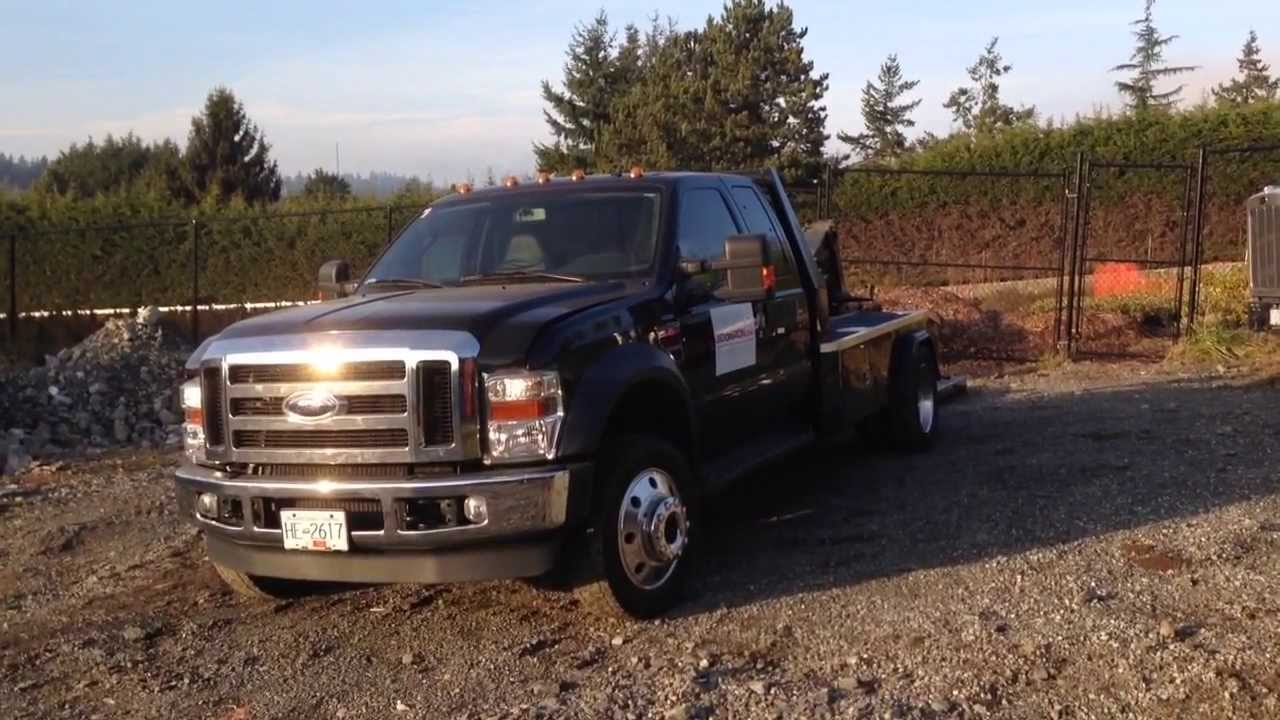 F550 For Sale >> 2009 Ford F-550 Lariat Super Cab 4x4 Hook Lift BIDonIRON.com ID#: 105 - YouTube