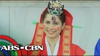 Jessy Mendiola tries on Korean wedding dress