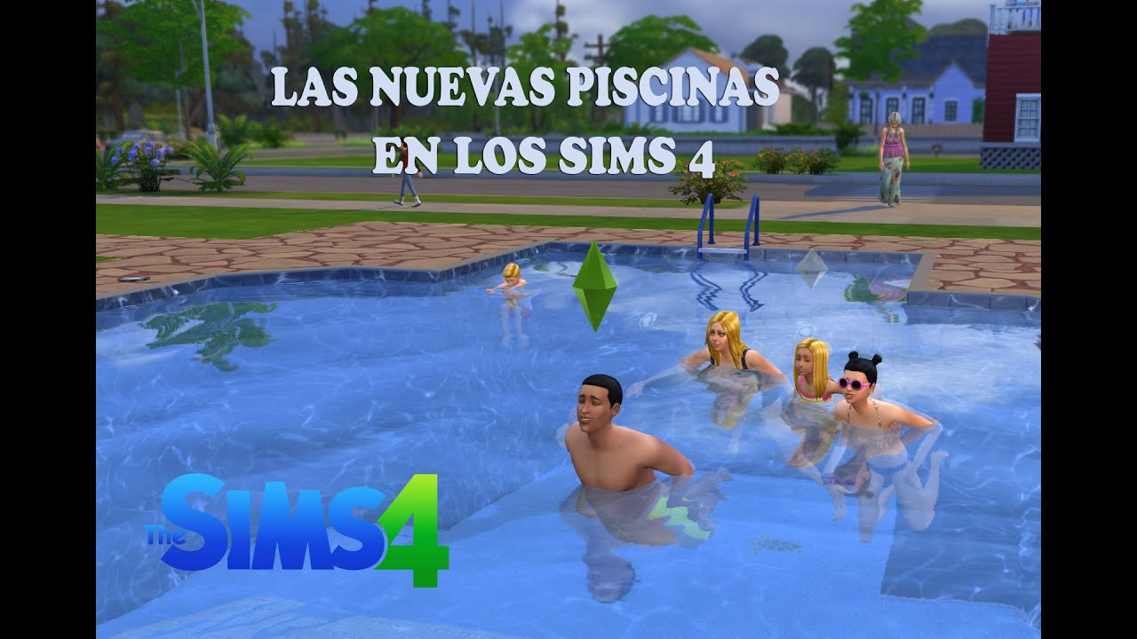 Los sims 4 review piscinas youtube for Piscina sims 4