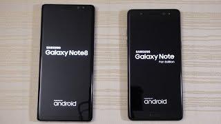 Galaxy Note 8 vs Galaxy Note FE [Note 7] - Speed Test! (4K)