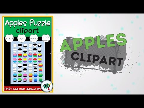 High resolution Clipart Apples Puzzles for teachers