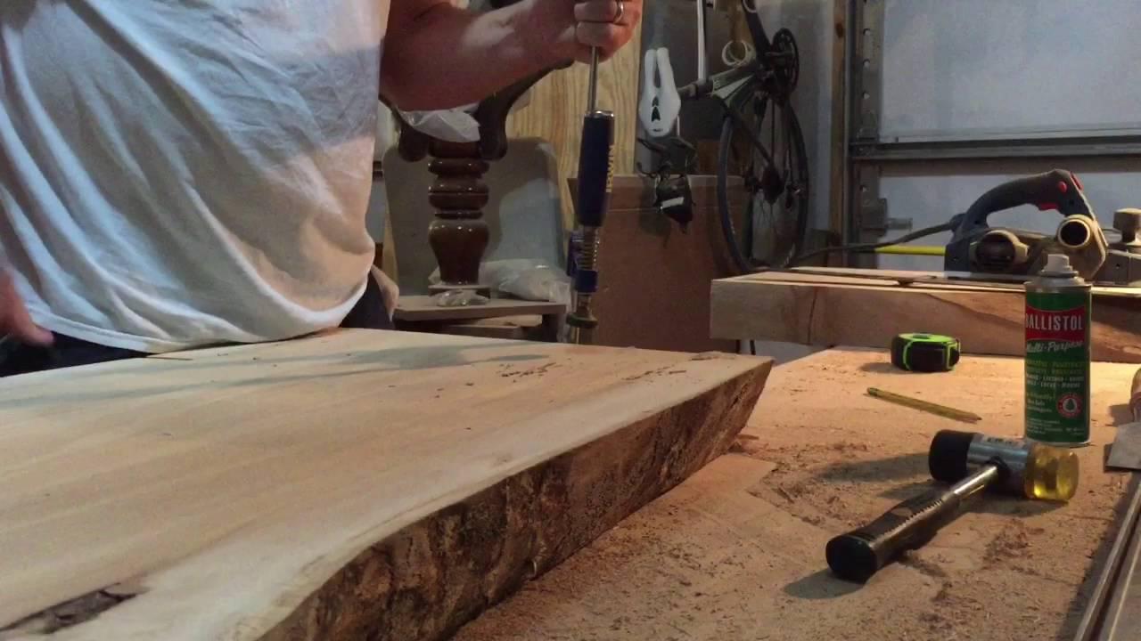 Wood slab table legs - Slab Table Leg Preparation