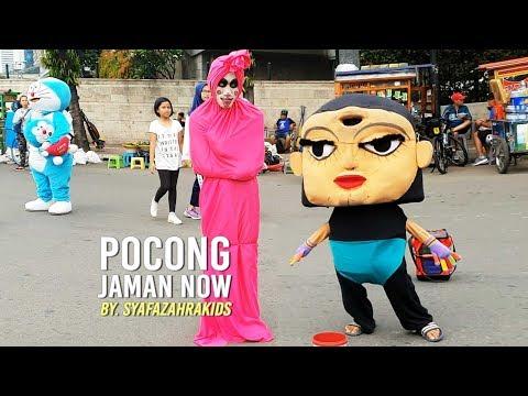 Video Lucu Horor - Pocong Joget bareng Badut Mampang