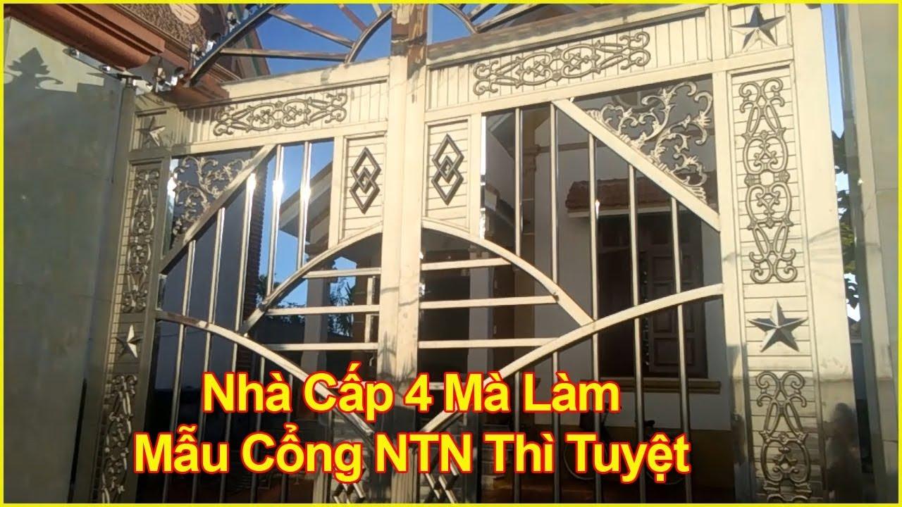 Nhà Cấp 4 Mà Làm Được Mẫu Cổng Inox NTN Thì Quá Tuyệt Vời