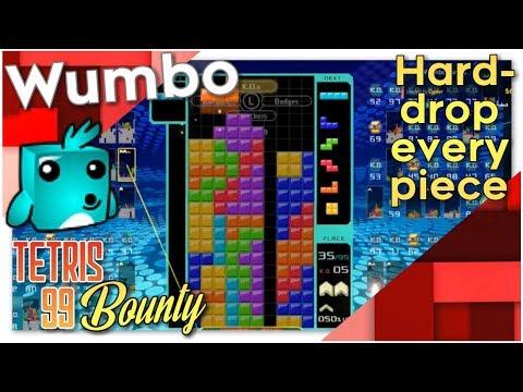 "Tetris 99 Bounty - ""Hard drop every piece"""