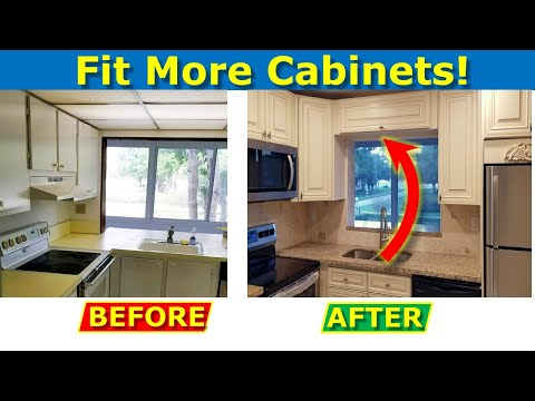 How To Resize Kitchen Pass Through Window Fit More Cabinets Youtube