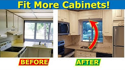 How To Resize Kitchen Pass Through Window, Fit More Cabinets