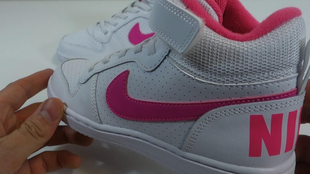 Dětské kotníkové tenisky Nike COURT BOROUGH MID - YouTube 02609c8fc5b