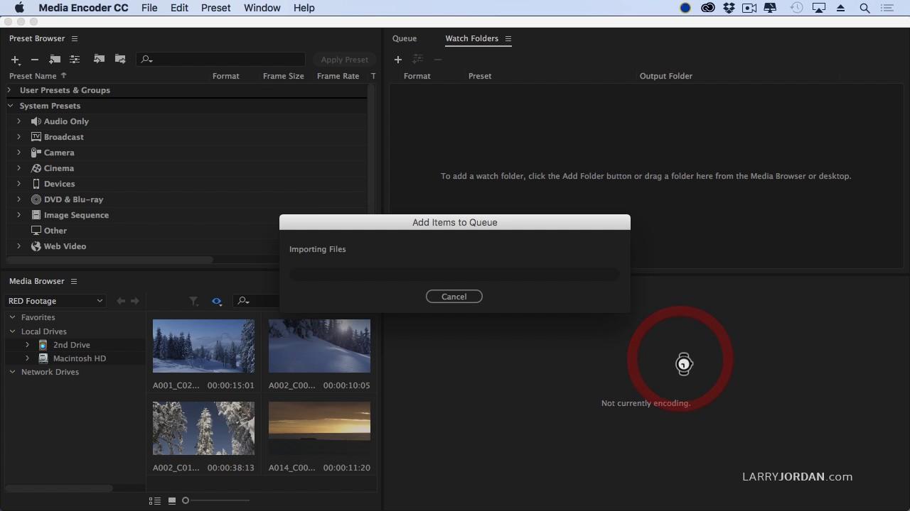 Stitching Multiple Files Into One (Adobe Media Encoder)