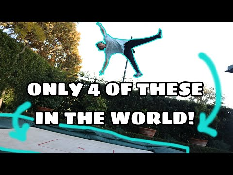 INSANE FLIPS AND RARE BACKYARD SUPER TRAMPOLINE!!!!