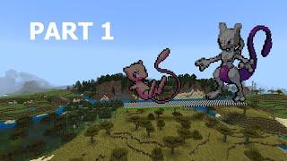 Minecraft Pixel Art: Mew From Pokémon Part 1 of 2