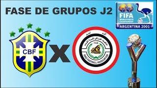 Copa do mundo sub 20 - Argentina 2001 - Brasil x Iraque -Bomba de gols pra cima do Iraque