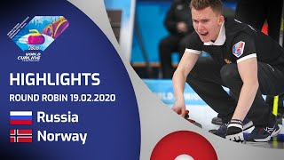 HIGHLIGHTS: Russia v Norway - Men's round robin - World Junior Curling Championships 2020