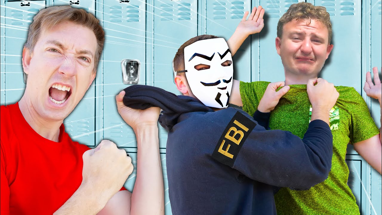 NEW Leader BULLYING STUDENTS to be HACKERS - Bully Caught In 4k with a Spy Ninjas Battle Royale