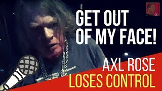 Axl Rose out clubbing, can't find his car