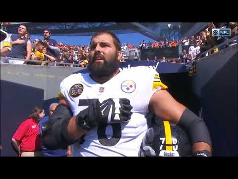Steelers ENTIRE TEAM DIDNT COME FOR NATIONAL ANTHEM Except For Alejandro Villanueva #TakeAKnee #NFL