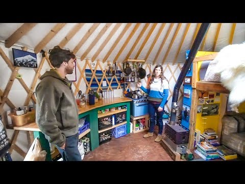 Couple Builds Off The Grid Alaskan Yurt With Salvaged Materials