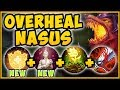 NEW BUFFED OVERHEAL + BLOODTHIRSTER NASUS = 100% OUTHEAL ALL DAMAGE TAKEN League of Legends Gameplay