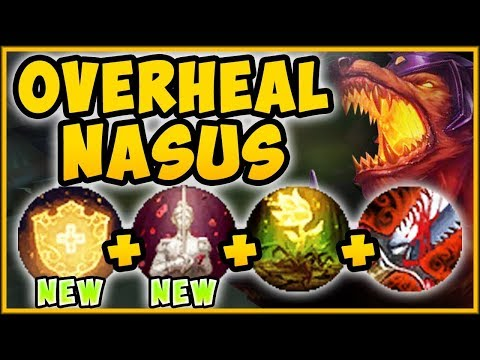 NEW BUFFED OVERHEAL + BLOODTHIRSTER NASUS = 100% OUTHEAL ALL DAMAGE TAKEN League of Legends Gameplay thumbnail