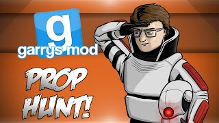 GMod Prop Hunt! - Rooftops: The Movie, Pot Luck, House Demons! (Garrys Mod Funny Moments)