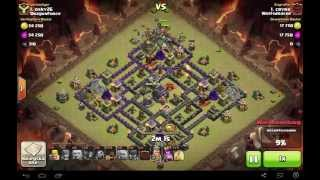 Clash of Clans Clanwar Rathaus 9 Angriff # 11 DragonForce osky26 vs. Wolfsdrache Crynx