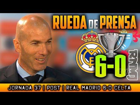 Real Madrid 6-0 Celta Rueda de prensa de Zidane (12/05/2018) | POST LIGA JORNADA 37