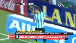 ¿Oscar Romero vuelve a jugar en Racing?