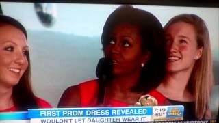 Michele Obama at her 12th grade prom photo