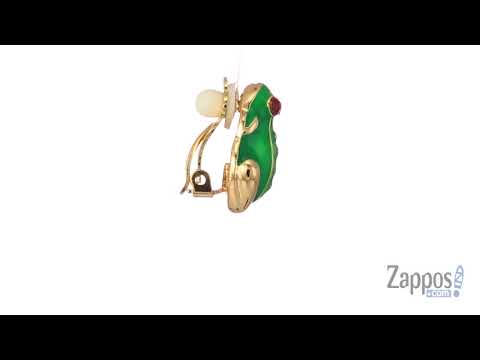 Kenneth Jay Lane Enamel Small Frog Clip Earrings SKU: 9098338