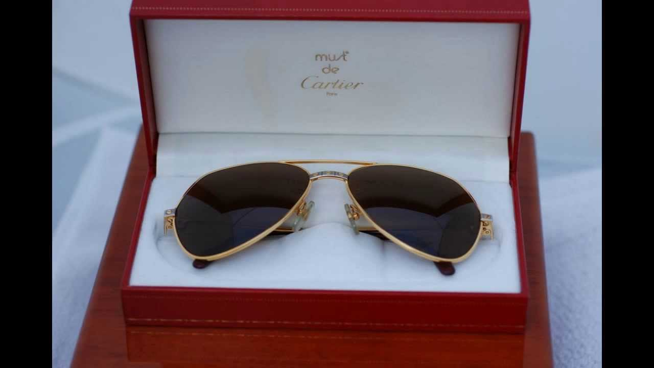 2abbf48266 Cartier Santos Sunglasses - 1980s Playboy look for Older Players - YouTube