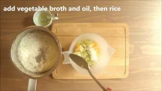 Healthy baby food recipe chicken porridge rice with chicken broccoli with rice and chicken baby food homemade recipe forumfinder Gallery
