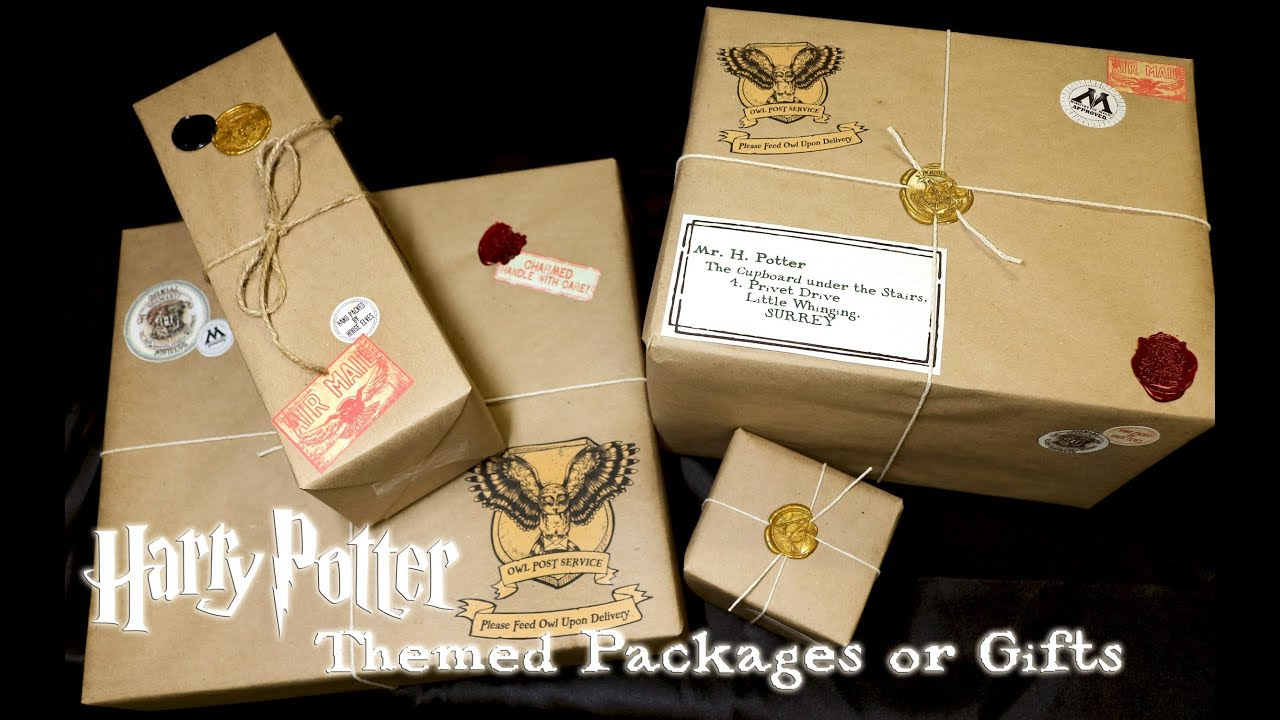 Harry Potter Christmas Gifts.Harry Potter Themed Packages Or Gifts Owl Post Diy Harry Potter Mail Harry Potter Christmas