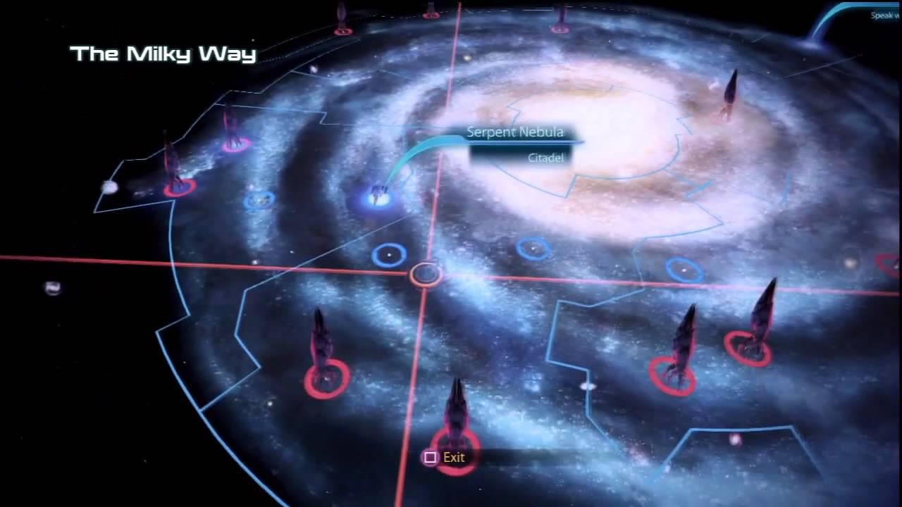 Mass Effect Star Map.Mass Effect 3 Walkthrough Part 61 Galaxy Map Xbox360 Ps3