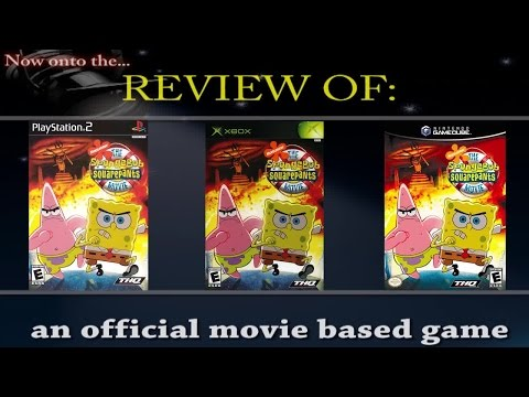 Movies to Video Games Review - The Spongebob Squarepants Movie  (PS2/Xbox/GameCube)