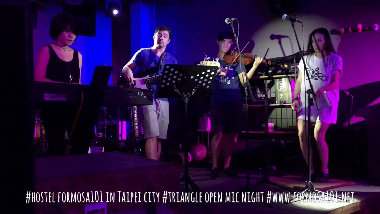 #hostel formosa101 in Taipei city #triangle open mic night #www.formosa101.net