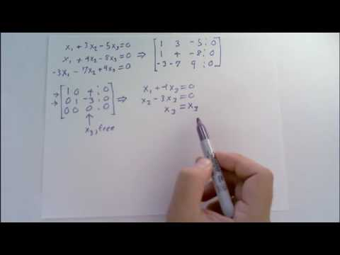 Write the solution set of the given homogeneous system in ...
