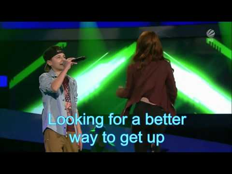 The voice kids G-Lukas-Can't hold us-Lyrics