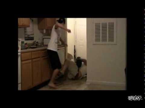 Buttered Floor Prank On Fat Guy