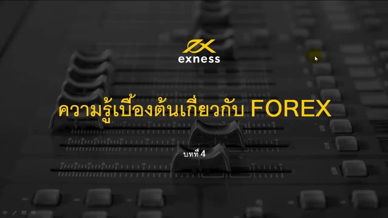 ความรู้เบื้องต้นเกี่ยวกับ Forex บทที่ 4