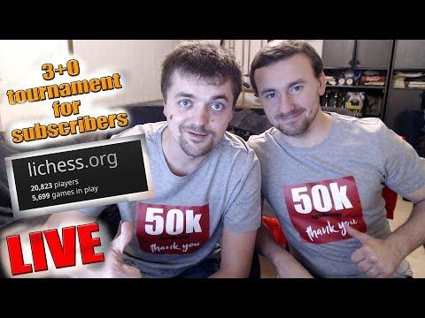 agadmator's 50.000 Subscribers Tournament Livestream - lichess.org