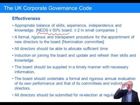 CIMA BA4 Corporate governance – directors and the board
