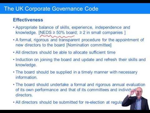 CIMA BA4 Corporate governance – directors and the board