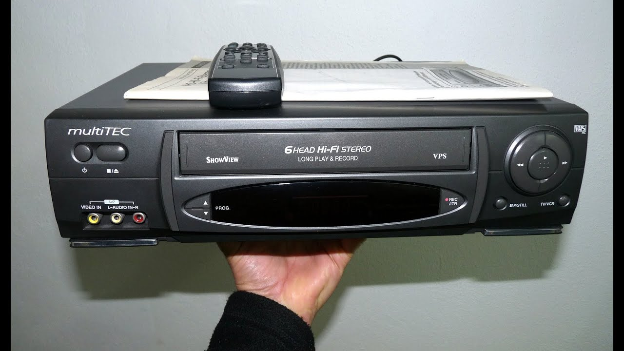 VHS 6-Kopf Hifi-Stereo-Videorecorder multiTEC VR4302M ShowView - YouTube