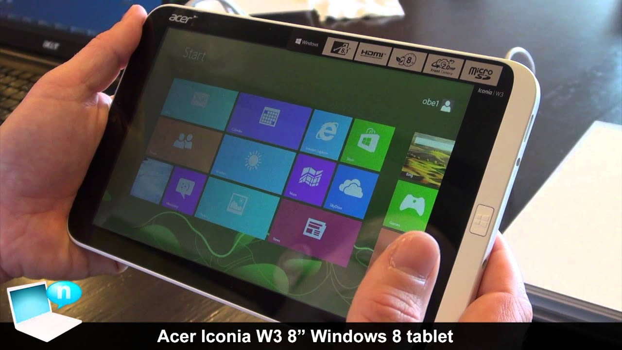 acer iconia w3 demo  with earthquake
