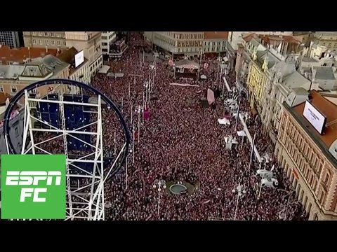 Over 500,000 Croatia fans flock to Zagreb for amazing World Cup party | ESPN FC