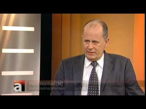Peter Norman (M) frågas ut i aktuellt om vattenfalls bonusar