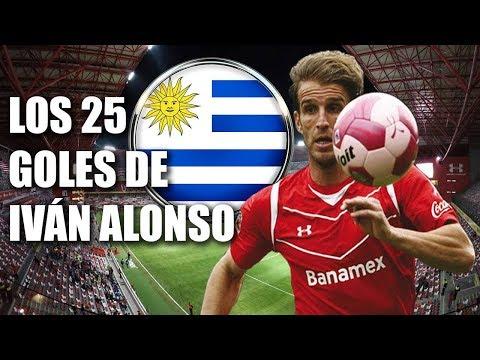 Los 25 goles de Iván Alonso con Toluca